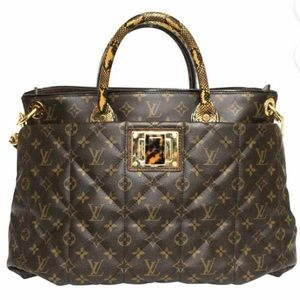 LV Python &Ostrich-Trimmed Etoile Exotique Tote GM